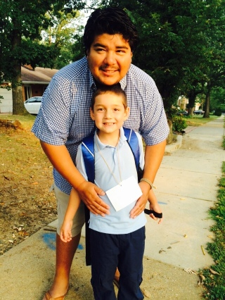 Nathaniel's first day of K